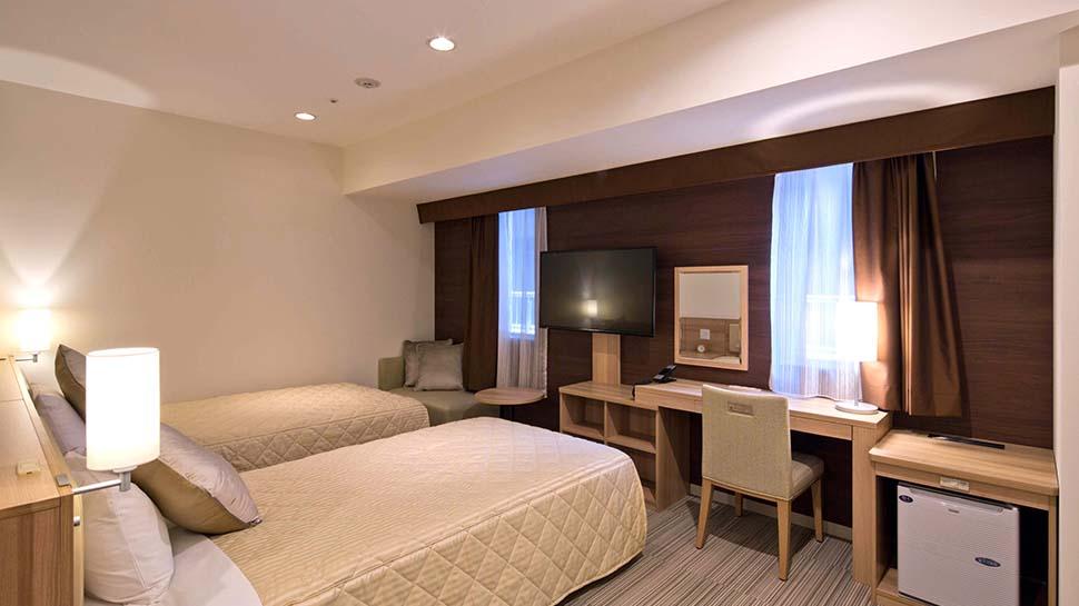 ユニバーサルツインルーム|ENGLISH|KOKO HOTEL Sapporo Ekimae