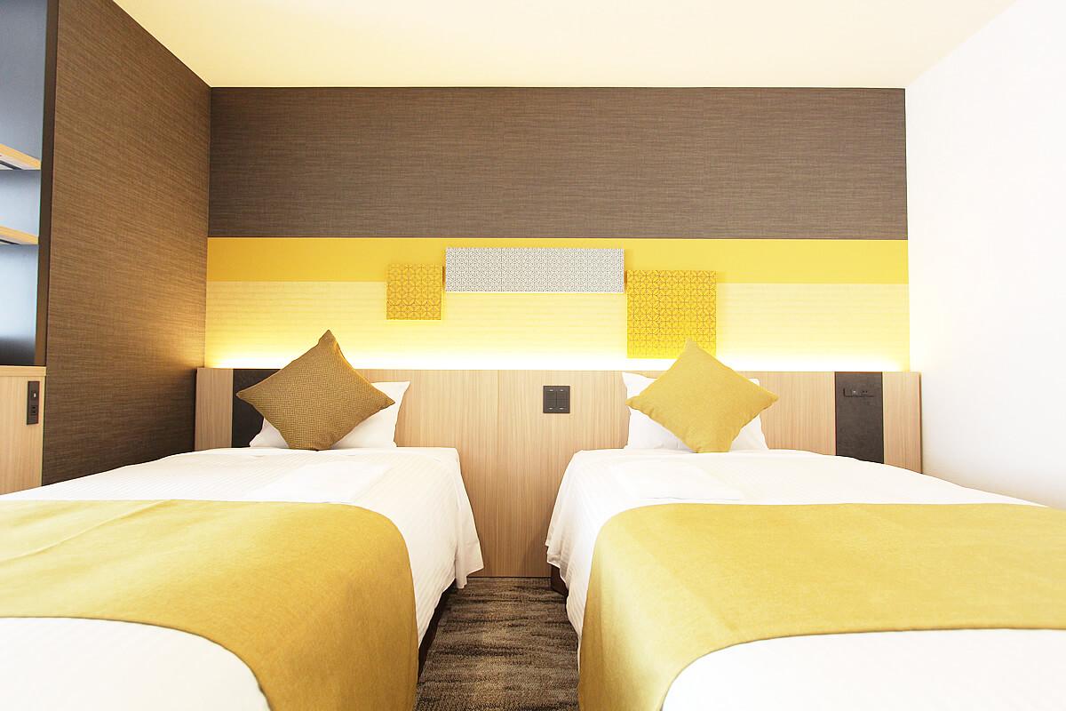 デラックスツインユニバーサルデザイン|客室のご案内|KOKO HOTEL 築地銀座